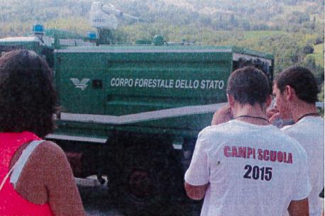 Giulianova, la Forestale incontra i ragazzi del Campo Scuola della CRI