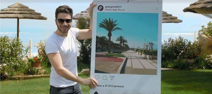Roseto, Gianluca Ginoble testimonial in uno spot promozionale della città