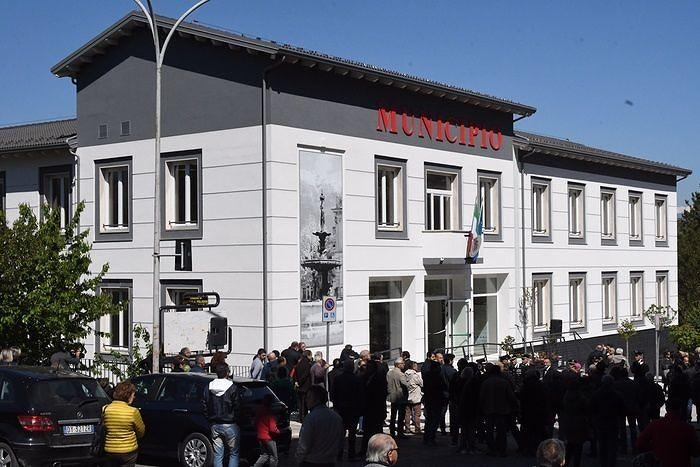 Terremoto, inaugurato il nuovo Municipio a Pratola Peligna