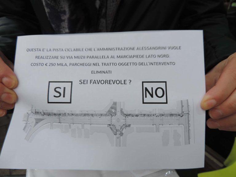 Pescara, 394 No alla pista ciclabile in via Muzii