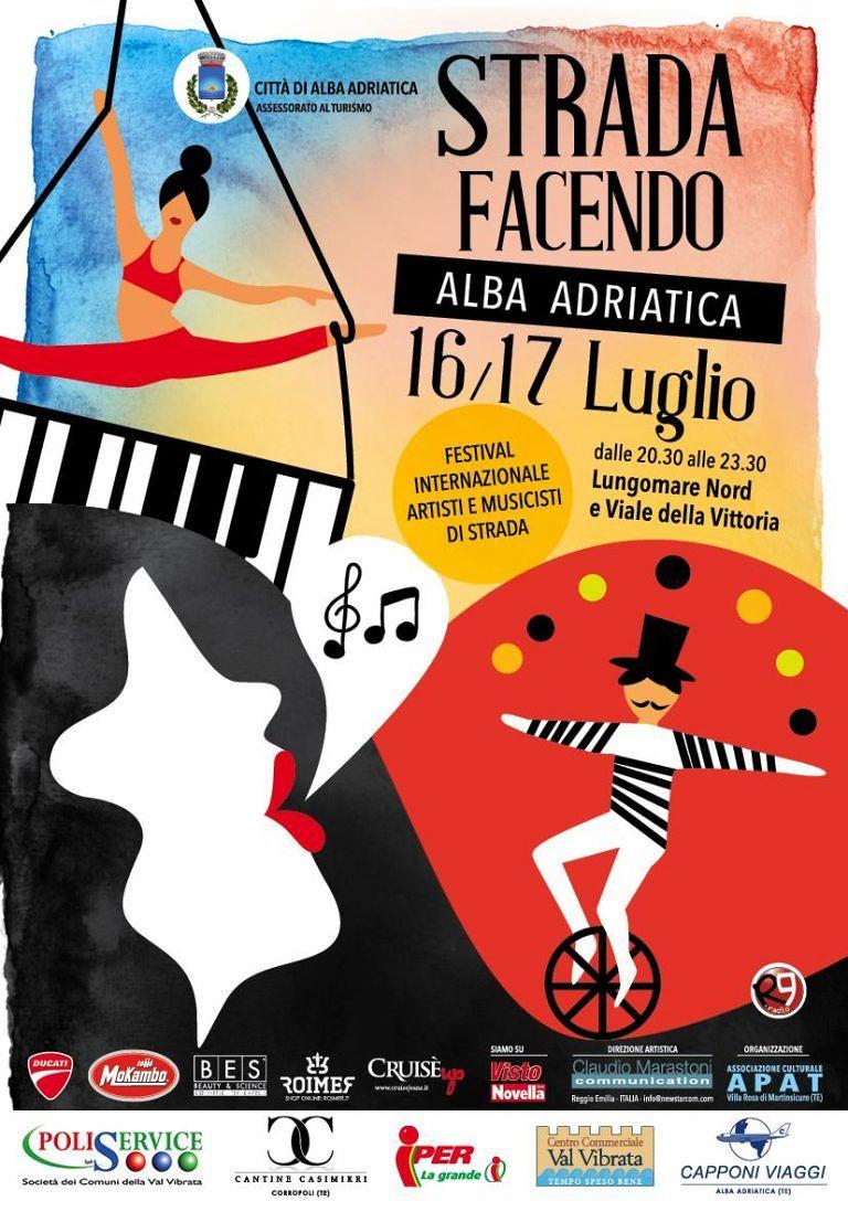 """Alba Adriatica, """"strada facendo"""": tutto pronto per il festival degli artisti di strada"""