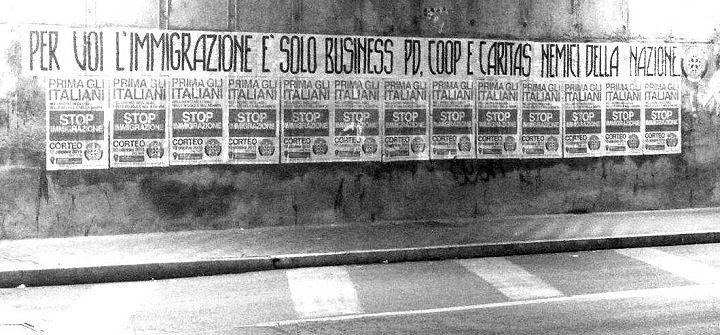 Immigrazione, CasaPound Italia affigge striscioni in Abruzzo contro il 'business dell'accoglienza'