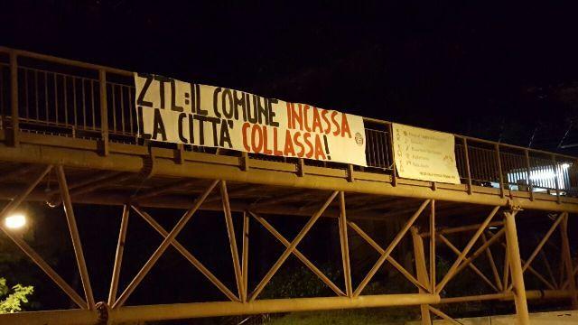 Chieti, Ztl: striscione di CasaPound contro le nuove regole