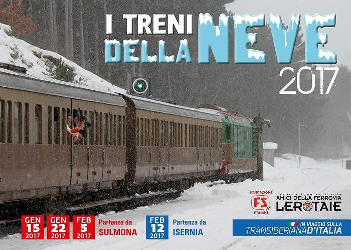 Torna Transiberiana d'Abruzzo, quattro appuntamenti con I 'Treni della neve'