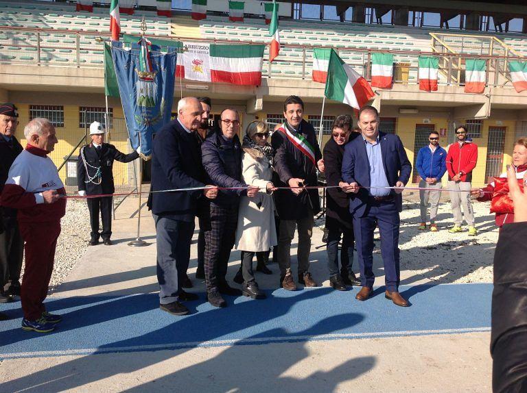 Montesilvano, inaugurata la pista di via Senna: presto il bando per la gestione