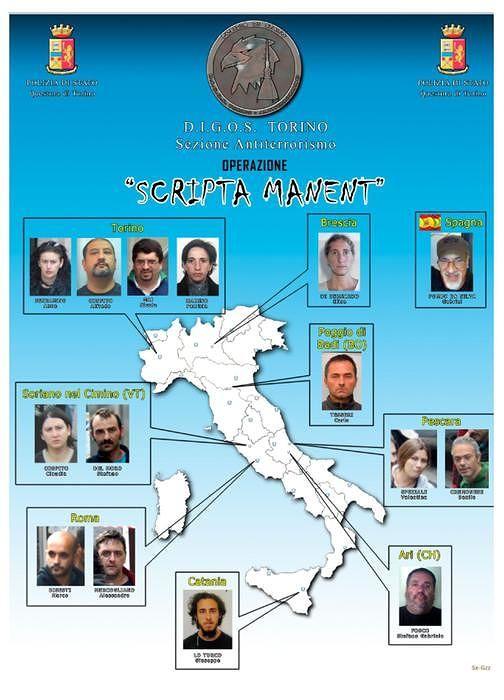 Inchiesta Fai, Riesame conferma il carcere per i due anarchici di Montesilvano
