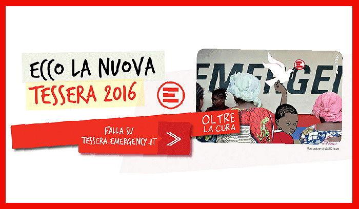 Teramo, campagna tesseramento di Emergency in Piazza Martiri