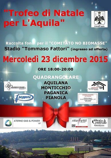 'Trofeo di Natale per L'Aquila', quadrangolare a sostegno del Comitato No Biomasse