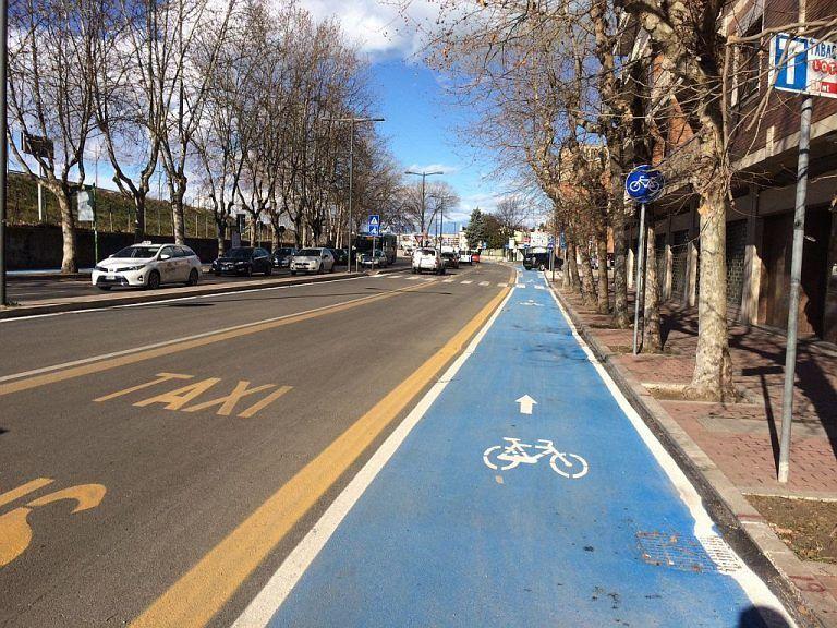 Pescara, nuove piste ciclabili su via De Gasperi