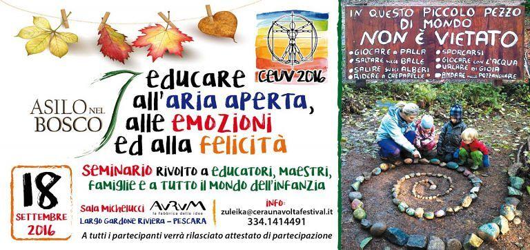 Pescara, educare all'aria aperta: al via il seminario per gli operatori dell'infanzia