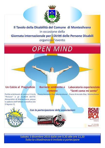 Montesilvano, al via 'Open mind': sensibilizzare alla disabilità