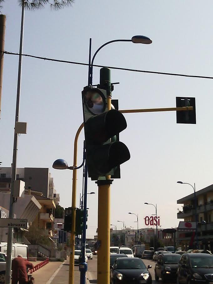 Montesilvano, semafori rotti su 4 incroci con Corso Umberto
