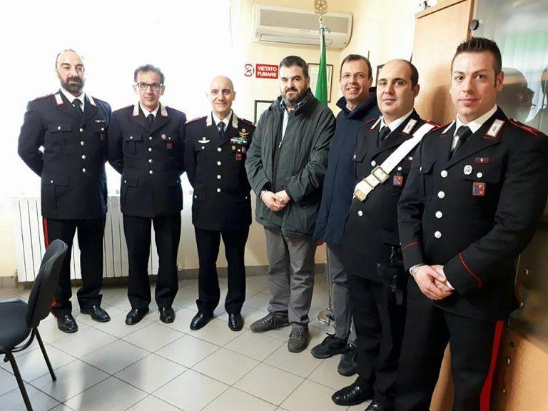 Sant'Egidio, il generale Sirimarco in visita nella stazione dei carabinieri