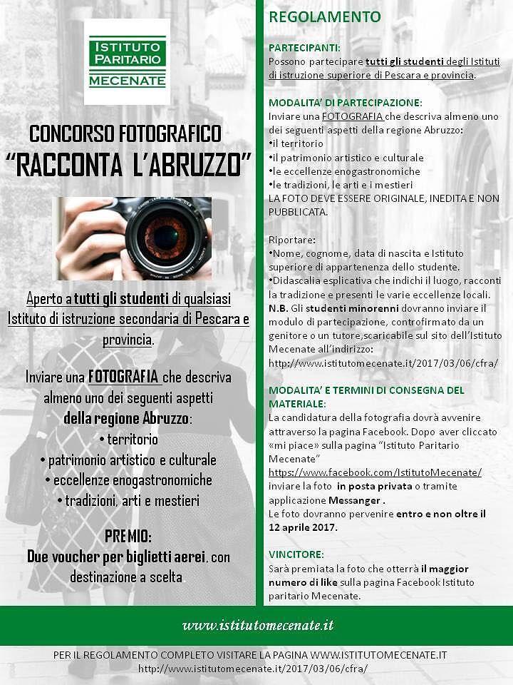 Pescara, raccontare l'Abruzzo con le foto: ecco concorso per studenti