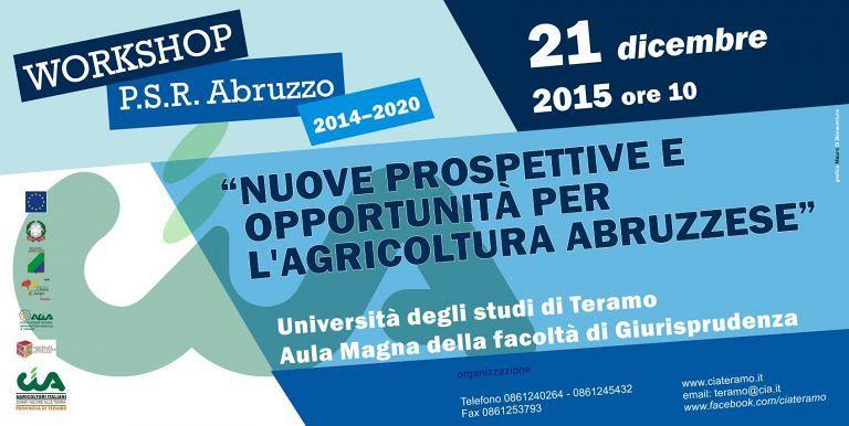 Teramo, workshop sul nuovo Piano di Sviluppo Rurale all'Università