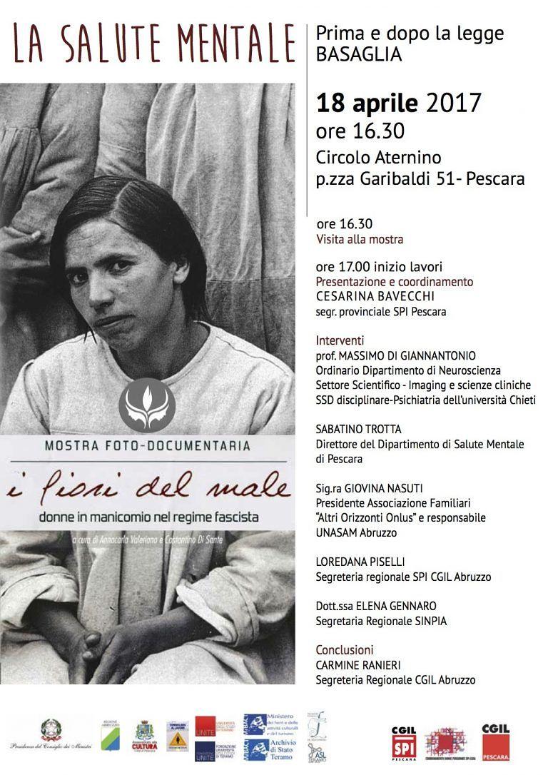 Legge Basaglia: workshop al Circolo Aternino di Pescara