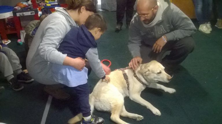 Terremoto, pet-therapy abruzzese a Cittareale