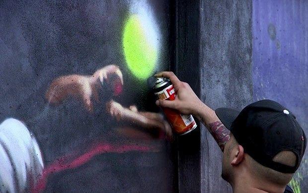 Montesilvano, Davide D'Angelo vince il concorso di Street Art