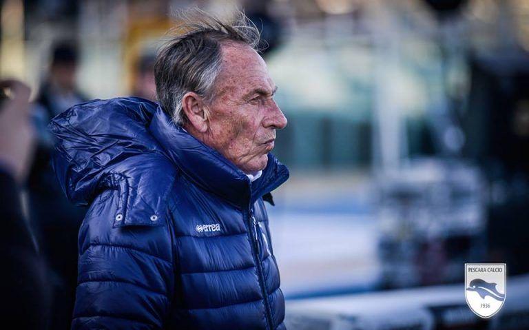 Pescara, Zeman al Poggio per salutare la squadra