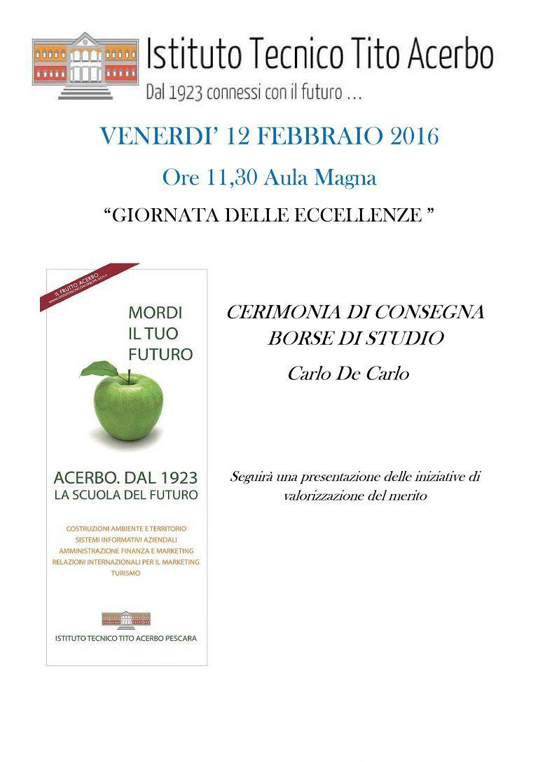 Pescara, Borse di studio 'De Carlo' a 5 alunni del Tito Acerbo