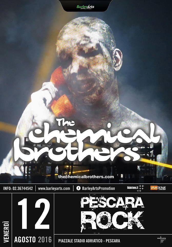 Al Pescara Rock 2016 i Chemical Brothers in concerto