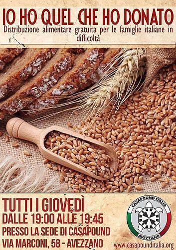 Casapound Avezzano, al via la terza distribuzione alimentare gratuita per le famiglie bisognose