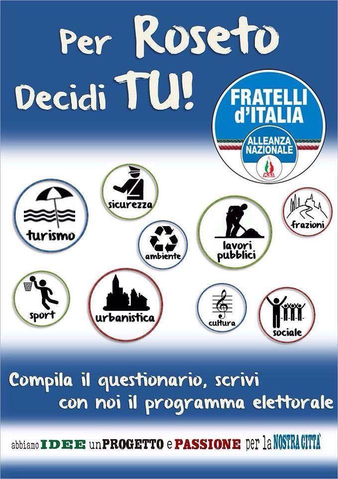 Roseto, al via campagna d'ascolto Fratelli d'Italia – Alleanza Nazionale