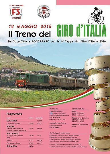 Giro d'Italia 2016, tappa in Abruzzo con corsa speciale sulla Transiberiana d'Italia