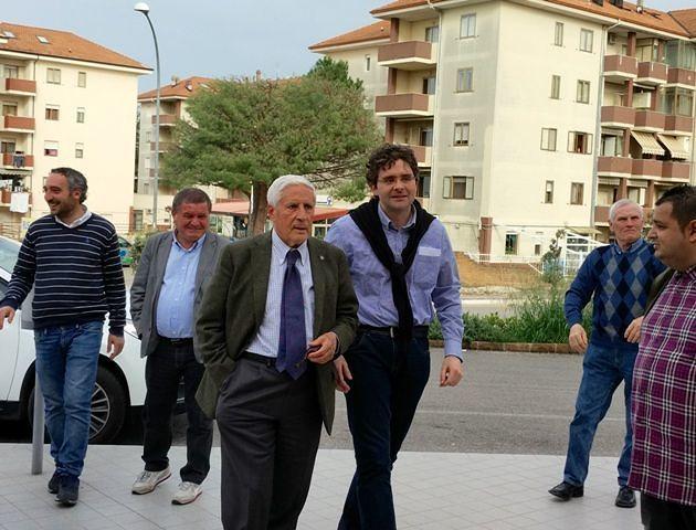 Vasto, Francesco Menna apre comitato elettorale con Franco Marini