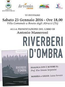Roseto, Riverberi d'ombra: il nuovo romanzo di Antonio Masseroni