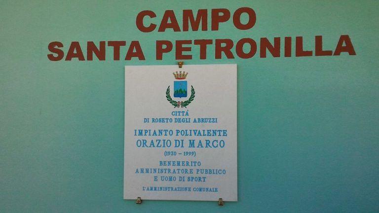 Roseto, impianto di Santa Petromilla intitolato a Orazio Di Marco