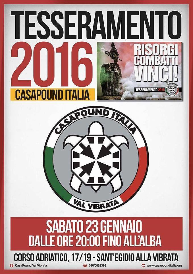 Sant'Egidio alla Vibrata, festa del tesseramento di CasaPound Italia