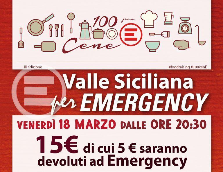 """Isola del Gran Sasso, a cena con la """"Valle Siciliana per Emergency"""""""