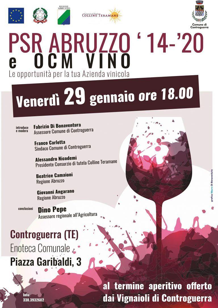 Opportunità per aziende vinicole: convegno a Controguerra