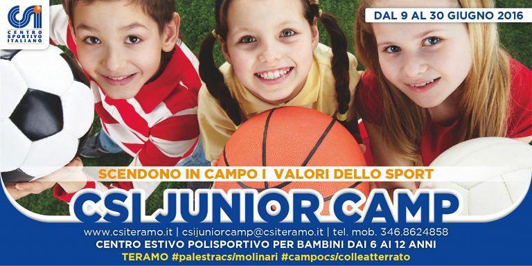Teramo, arriva il CSI Junior Camp per i ragazzi che in estate restano in città