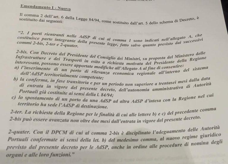 Porti, approvato in Conferenza Stato-Regioni l'emendamento dell'Abruzzo
