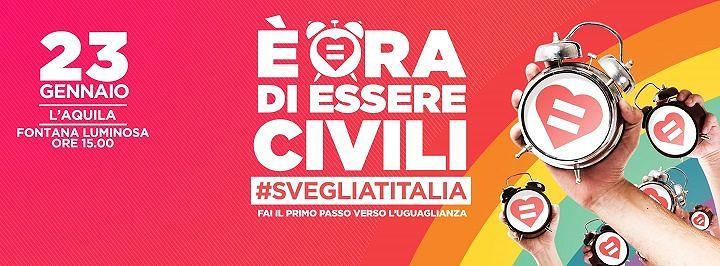 Arcigay L'Aquila si mobilita per le unioni civili: sfilerà lungo il centro storico