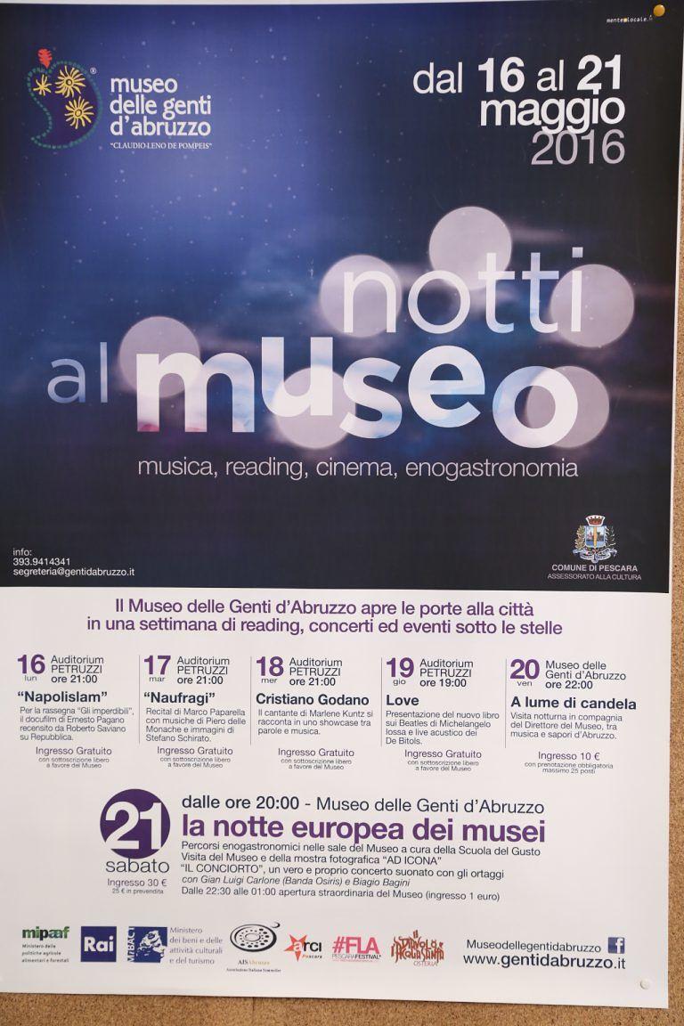 Pescara si prepara alla Notte europea dei Musei: tutti gli eventi