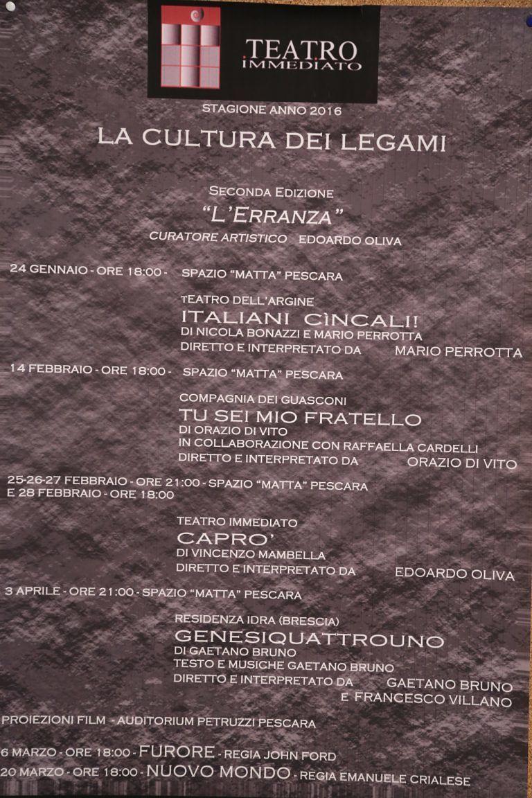 Pescara, al via la stagione del Teatro Immediato