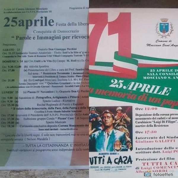 Mosciano, il caso del doppio evento del 25 aprile