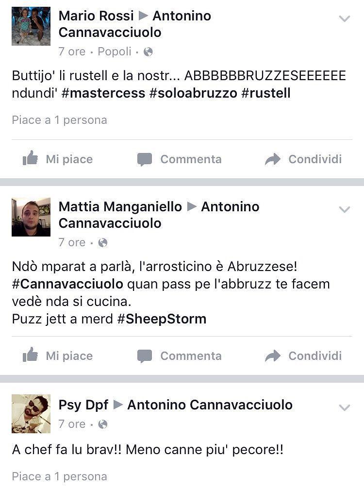 Abruzzesi all'assalto su Facebook dello chef Cannavacciuolo