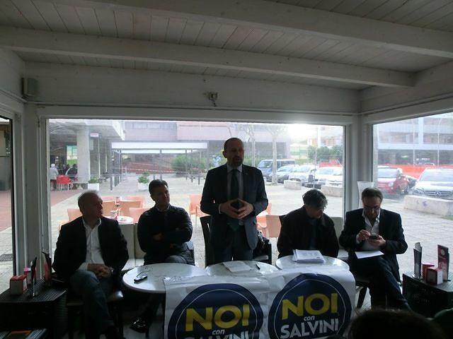 Paolo Arrigoni a Francavilla per sostenere la candidatura di Alessandro Mantini