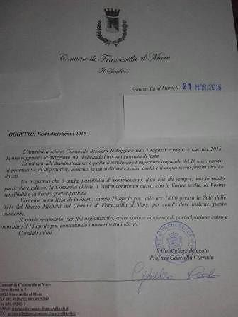Francavilla, Di Renzo: 'Luciani fa campagna elettorale con soldi pubblici'