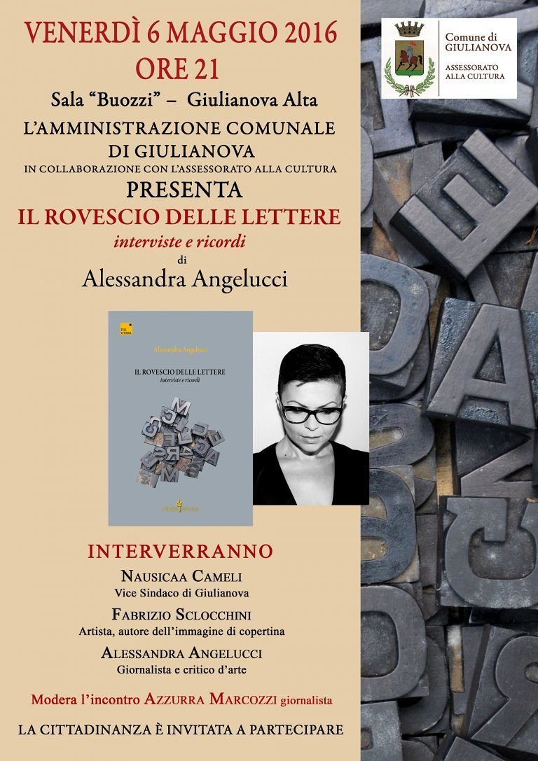 """Giulianova, presentazione de """"Il rovescio delle lettere"""" di Alessandra Angelucci"""