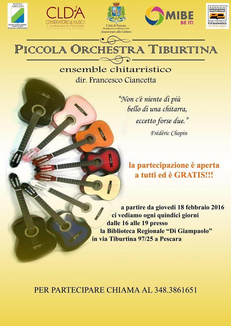 Pescara, nasce la prima orchestra di chitarra alla biblioteca in via Tiburtina