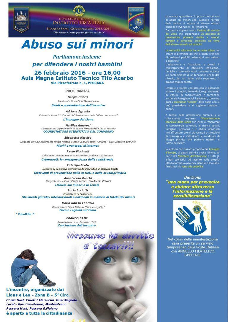 Pescara, come tutelare i minori dal rischio di abusi: il convegno al Tito Acerbo