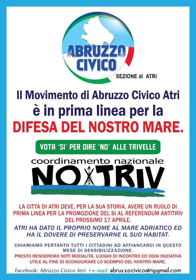 Atri, Abruzzo Civico dice no alle trivelle