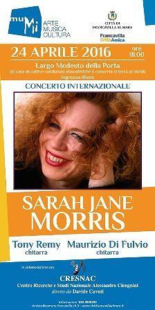 A Francavilla tutto pronto per concerto Sarah Jane Morris