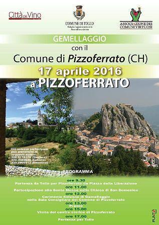 Tutto pronto per celebrare il gemellaggio tra Tollo e Pizzoferrato