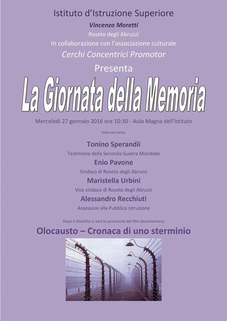 Roseto, Rigenerazione Urbana e Giornata della Memoria all'Istituto Moretti